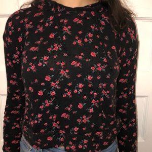 Flowered long sleeve with hood